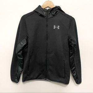 Under Armour black youth jacket sz L